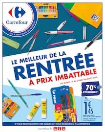 Catalogue Carrefour en cours, Le meilleur de la rentrée à prix imbattable, Page 1