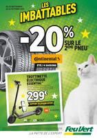 Catalogue Feu Vert en cours, Les imbattables : -20% sur le 2ème pneu, Page 1
