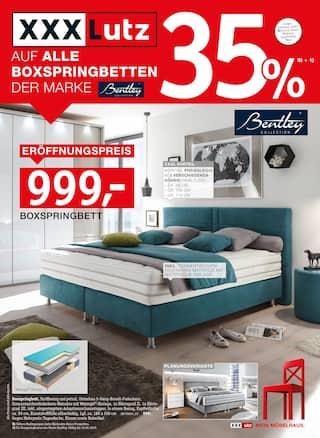 XXXLutz Möbelhäuser, 35% AUF BOXSPRINGBETTEN für Stuttgart