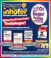 Aktueller Möbel Inhofer Prospekt, Möbel kauft man beim Testsieger!, Seite 1