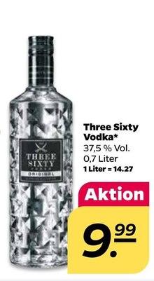 Wodka von Three Sixty im aktuellen NETTO mit dem Scottie Prospekt für 9.99€