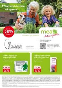mea - meine apotheke Prospekt für Neuendeich b Uetersen: Unsere Oktober-Angebote, 4 Seiten, 30.9.2021 - 31.10.2021
