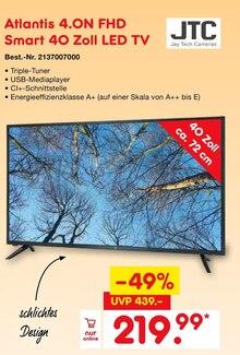 Fernseher von JTC im aktuellen Netto Marken-Discount Prospekt für 219.99€