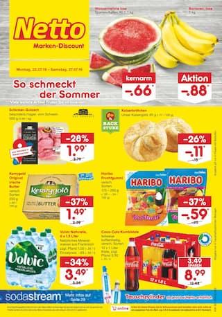 Aktueller Netto Marken-Discount Prospekt, So schmeckt der Sommer, Seite 1