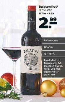 Alkoholische Getraenke von Balaton im aktuellen NETTO mit dem Scottie Prospekt für 2.99€
