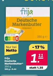 Butter von frija im aktuellen NETTO mit dem Scottie Prospekt für 1.11€