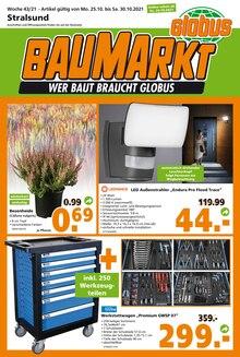Globus-Baumarkt Prospekt für Kummerow b Stralsund: WER BAUT BRAUCHT GLOBUS, 20 Seiten, 23.10.2021 - 30.10.2021