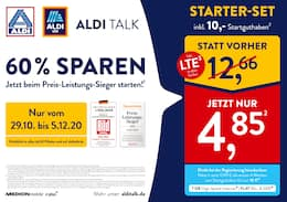 Aktueller ALDI Nord Prospekt, ALDI TALK 60% SPAREN, Seite 1