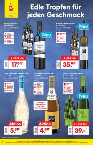 Wein im Netto Marken-Discount Prospekt Sommer-Endspurt der Preise auf S. 3