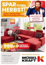 Aktueller Möbel Kraft Prospekt, Spar in den Herbst!, Seite 1