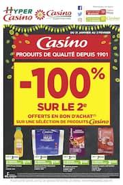 Catalogue Casino Supermarchés en cours, Produits de qualité depuis 1901, Page 1