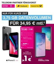 Telekom Partner Tönisvorst, NUR FÜR KURZE ZEIT 3,75 GB DATENVOLUMEN FÜR 34,95 € MTL. für Düsseldorf