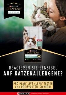 PRO PLAN LiveClear Prospekt für Kankelau: Reagieren Sie sensibel auf Katzenallergene?, 3 Seiten, 16.9.2021 - 28.10.2021