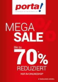 Aktueller porta Möbel Prospekt, MEGA SALE - BIS ZU 70% REDUZIERT, Seite 1