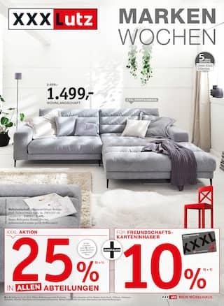 XXXLutz Möbelhäuser, MARKENWOCHEN für Nürnberg