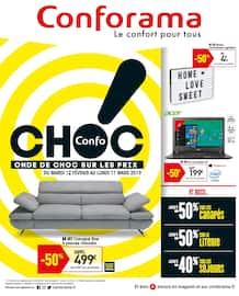 Catalogue Conforama en cours, Confochoc ! Onde de choc sur les prix !, Page 1