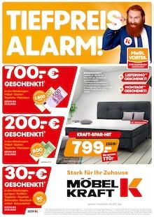 Der aktuelle Möbel Kraft Prospekt Tiefpreisalarm
