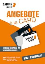 Aktueller Saturn Prospekt, ANGEBOTE a la CARD, Seite 1