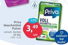 Waschmittel von Priva im aktuellen BUDNI Prospekt für 3.49€