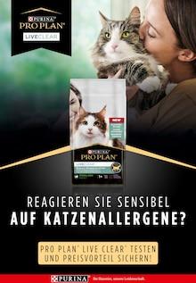 PRO PLAN LiveClear Prospekt für Steinreich: Reagieren Sie sensibel auf Katzenallergene?, 3 Seiten, 16.9.2021 - 28.10.2021