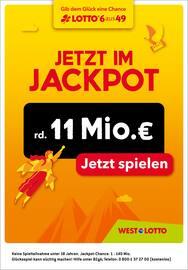 Aktueller Westlotto Prospekt, Jetzt im Jackpot rd. 11 Mio. €, Seite 1