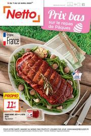 Catalogue Netto en cours, Prix bas sur le repas de Pâques, Page 1