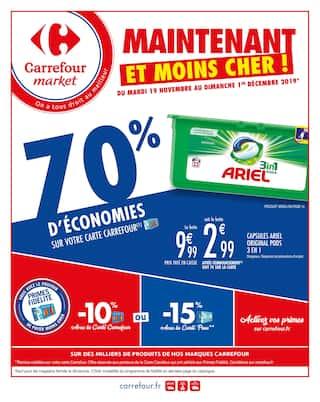 Catalogue Carrefour Market en cours, Maintenant et moins cher !, Page 1