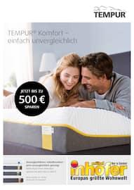 Aktueller Möbel Inhofer Prospekt, TEMPUR® Komfort – einfach unvergleichlich, Seite 1