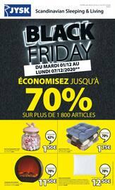 Catalogue Jysk en cours, Black Friday : Économisez jusqu'à 70% sur plus de 1800 articles, Page 1