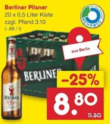 Bier von Berliner im aktuellen Netto Marken-Discount Prospekt für 8.8€