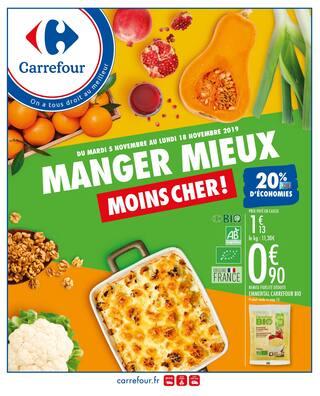 Catalogue Carrefour en cours, Manger mieux moins cher !, Page 1