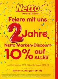 Aktueller Netto Marken-Discount Prospekt, 10% auf ALLES – Wir feiern 2 Jahre Netto!, Seite 1