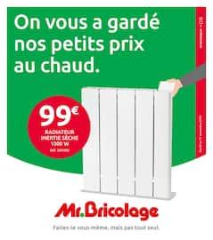 Catalogue Mr Bricolage en cours, On vous a gardé nos petits prix au chaud, Page 1