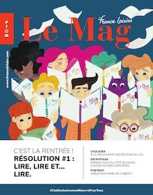 """France Loisirs Catalogue """"Le Mag"""", 91 pages, Villeparisis,  31/08/2021 - 31/10/2021"""