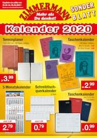 Aktueller Zimmermann Prospekt, Kalender 2020 , Seite 1
