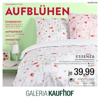 Aktueller Galeria Kaufhof Prospekt, AUFBLÜHEN, Seite 1