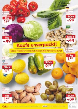 Aktueller Netto Marken-Discount Prospekt, Nackte Tatsache: Wir haben unverpacktes Obst und Gemüse., Seite 2